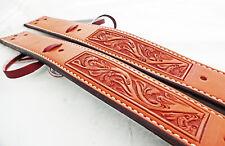Billy Cook Flank Back Cinch Pair Billets Floral Carved Leather Saddle Horse Tack