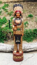 John Gallagher Carved Wooden Cigar Store Indian 6 ft. Buffalo Knife