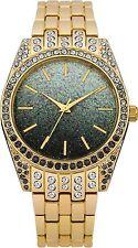Identity Ladies Grey Dial Gold Coloured Bracelet Wrist Watch