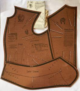 Antique Rare 1906 Morris Bros Tailor System Draft Sloper Set W/Paperwork