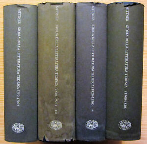 4 volumi STORIA DELLA LETTERATURA TEDESCA Ladislao Mittner EINAUDI ED. 1971/1977