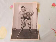 Original Bill JOHNSON Harringay Racers 1950's Ice Hockey Photo
