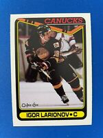 1990-91 O-Pee-Chee #359 Igor Larionov RC Rookie Card NM-MT or Better Canucks