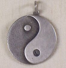 VINTAGE STERLING HAND CRAFTED YIN & YANG PENDANT OR LARGE CHARM