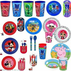 CHILDRENS TODDLER BABYS  DINNER SETS PLATES CUTLERY BEAKERS BOWLS CUPS SPOONS