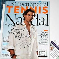 RAFAEL NADAL Signed TENNIS Magazine White Shirt *JSA COA *RAFA