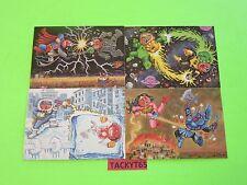 2014 GARBAGE PAIL KIDS SERIES 2 COLLECTOR ED. SUPERHERO BATTLE CARDS SET 1-4 NEW