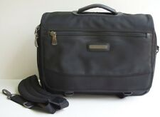 KENNETH COLE BLACK LAPTOP NYLON SATCHEL BRIEFCASE FOR COMPUTER  IPAD