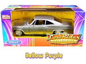 Welly 1:24 LOW RIDER 1965 Chevrolet Impala SS 396 Diecast Metallic Grey 22417