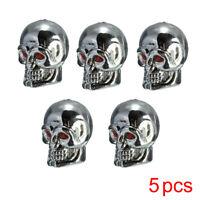 5Pcs Universal Car Auto Skull Wheel Tire Tyre Stem Air Valve Dust Caps Cover