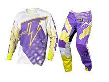 Brand New JT Flow White/Purple Kids Motocross Mx Kit 28W Pant X-Large Jersey