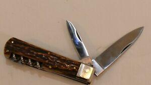alt HORNMESSER TASCHENMESSER MESSER SACKMESSER KLAPPMESSER KNIFE COUTEAU FEITEL