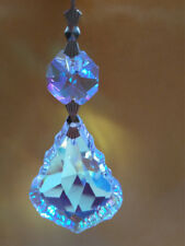 10pcs 50MM AB CRYSTAL RAINBOW FRENCH CHANDELIER PART GLASS PRISM BRASS PENDANT