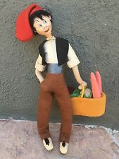 """Klumpe 11"""" Cloth Doll Man With Vegetables"""