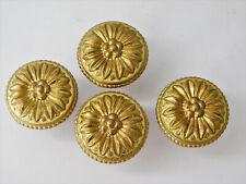 Lot 4 Ancien Bouton de meuble Ø35 Bronze Laiton Doré,Louis XVI,Poignée, Commode