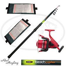 Sea Fishing Kit NGT 12ft Telescopic Beachcaster Rod Reel OceanMaster 70