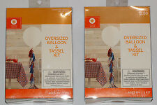 "Lot of 2 Decor by Target Oversized Giant Balloon & Tassel Garland Kit 36"" Dia"