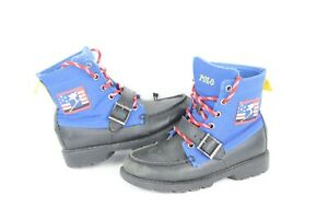 Polo Ralph Lauren Boys Size 13.5 Ranger Hi II Suicide Skiier Spell Out Boots