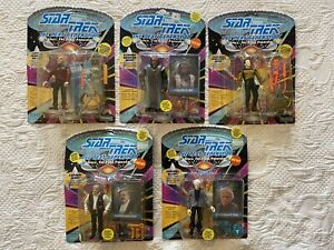 Vintage Playmates Star Trek The Next Generation Figures Lot Of 5 1993 Sealed