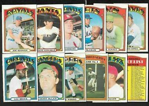 1972 OPC 72 O PEE CHEE TOPPS MLB BASEBALL CARD 133-484 SEE LIST