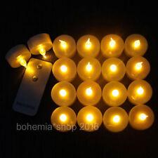 12 LED Teelichter Kerze Teelicht Flammenlos Elektrisch Kerzen mit Fernbedienung