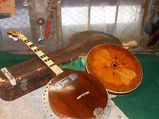 Vintage Banjo Melody King Stomberg Voisent co. w Case DeArmond Pick-Up 8 String