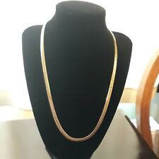 Korea, Nice Feel to the Piece! Herringbone Gold Chain marked 14K Gp and