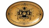 "12"" Euro Porcelain Medusa Fine Bone China Oval Platter – Gold Serving Tray"