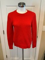 J. Crew Red Wool Crew Neck Sweater, Size Small