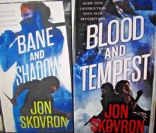 The Empire of Storms BANE AND SHADOW / BLOOD AND TEMPEST Jon Skovron 2 Book LOT