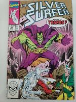 SILVER SURFER #37 (1990) MARVEL COMICS DRAX THE DESTROYER! RON LIM ART!