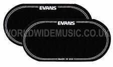 Evans Eq De Nylon Negro Doble Bombo Parche (paquete de 2 parches) - Eqpb 2