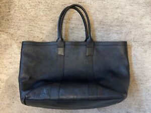 LOTUFF Working Tote, Unisex Black Leather, Excellent Condition