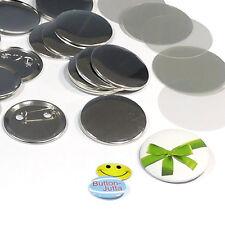 100 Stück 50 mm Buttonrohlinge, Ansteckbuttons Sicherheitsnadel Badgematic