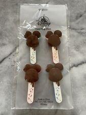 Disney Parks Food Bag Clips Mickey Mouse Ice Cream Bar Set of 4 Nip $40.