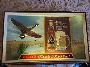 Blatz Milwaukee's Finest Beer - Lighted Tavern Sign from 1950's