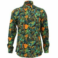 Mens Shirt Loud Originals TAILORED FIT Chalk Black Retro Psychedelic Fancy