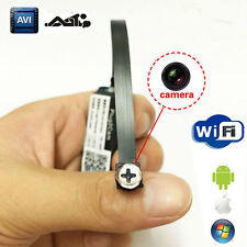 DIY wireless Spy Nanny hidden WIFI IP P2P Pinhole Digital Video Camera Mini DVR