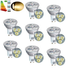 8x GU10 4W LED Bulbs Spot Light Replacement 40W Halogen Warm White Bright Lamp