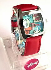 "Disney Cartoon Donald Duck Watch ""Tank Style"" Out of Prod. *HTF SII MKT-SEIKO"
