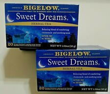 Bigelow Sweet Dreams Herbal Tea Chamomile Mint 2-Pack 40 bags Expires 05/2022