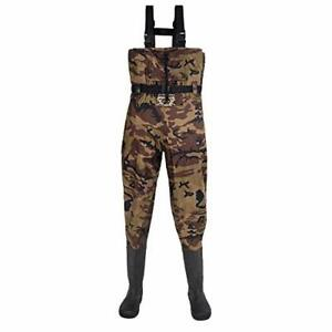 Chest Waders for Men with Boots Hunting Waders Fishing Boots 14 Camouflage