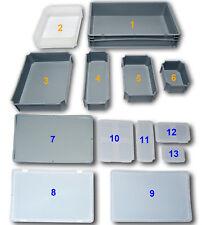 Kunststoffbehälter, Einsatzbehälter, Einsatzboxen, Euronormbehälter, Deckel NEU!
