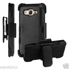 Black Shockproof Case Skin Cover w/Holster Clip for Samsung Galaxy On5 G550