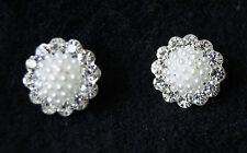 Hair Pins Bridal, Prom Bodas Diamante Y Perlas X 2