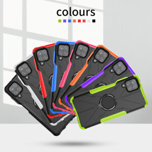 For Samsung Galaxy A12 5G Shockproof Heavy Kickstand Ring Holder Armor Case Cove