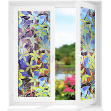 Static Cling Stained Frosted Floral Glass Door Window Film Sticker Privacy