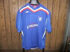 Glasgow Scottland soccer jersey Umbro Rangers large blue Carling futbol