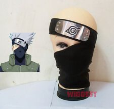 Naruto Hatake Kakashi Cosplay Black Mask + Leaf Village Ninja Headband