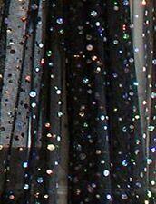 Single Panel Sequin Black Curtain 50 x 84 Gossamer Funky Hip Boho Arty Glam